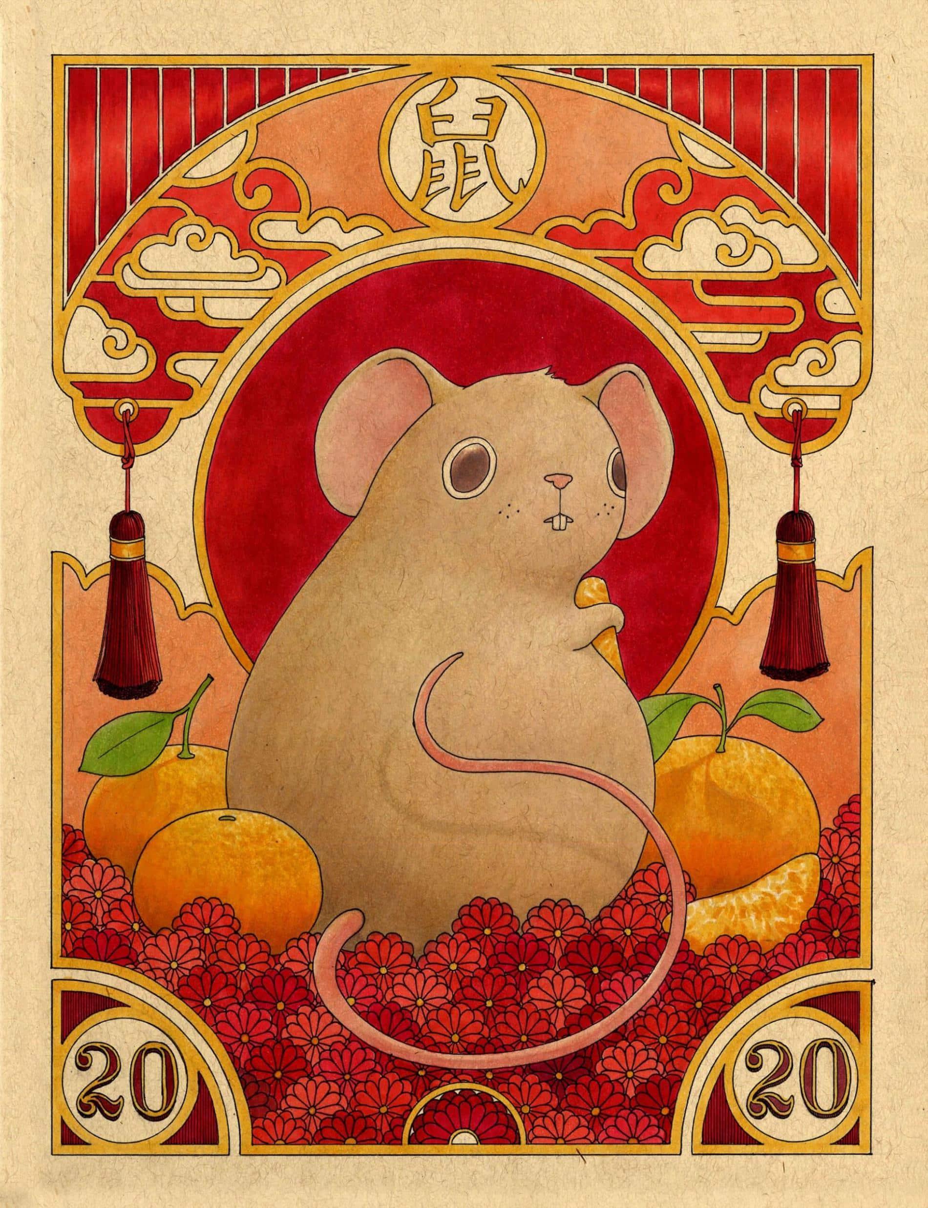 ilustraciones felicia chiao año chino rata
