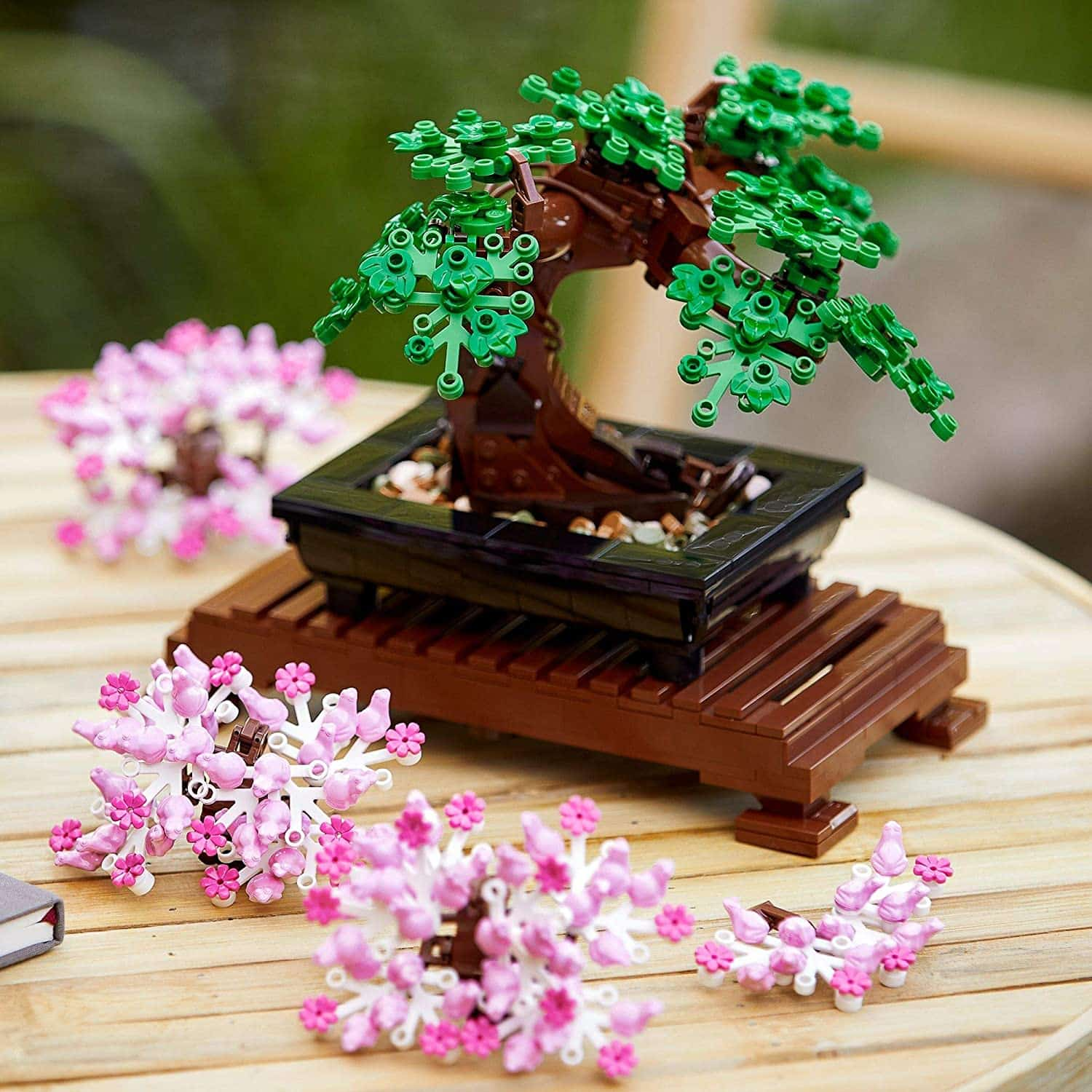 lego bonsai cerezo y verde
