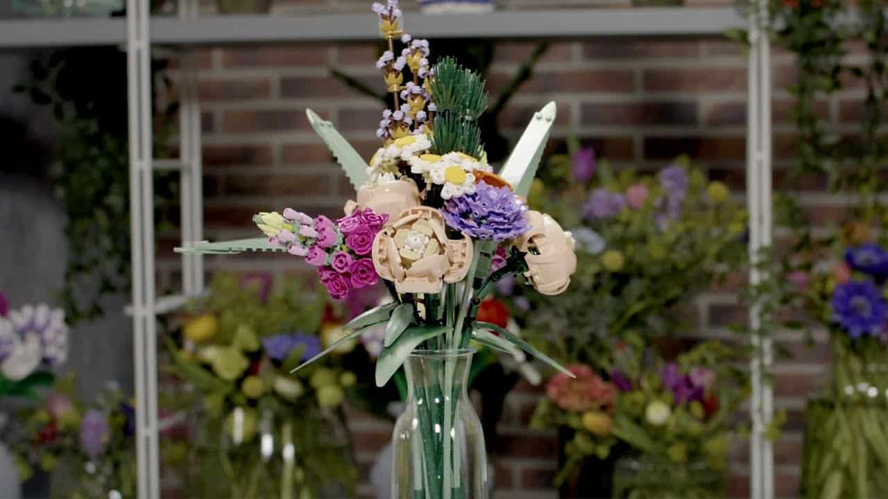 lego flores florero