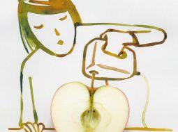 mujer manzana sunday sketches chritoph niemann