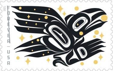 sello postal estados unidos diseño indigena