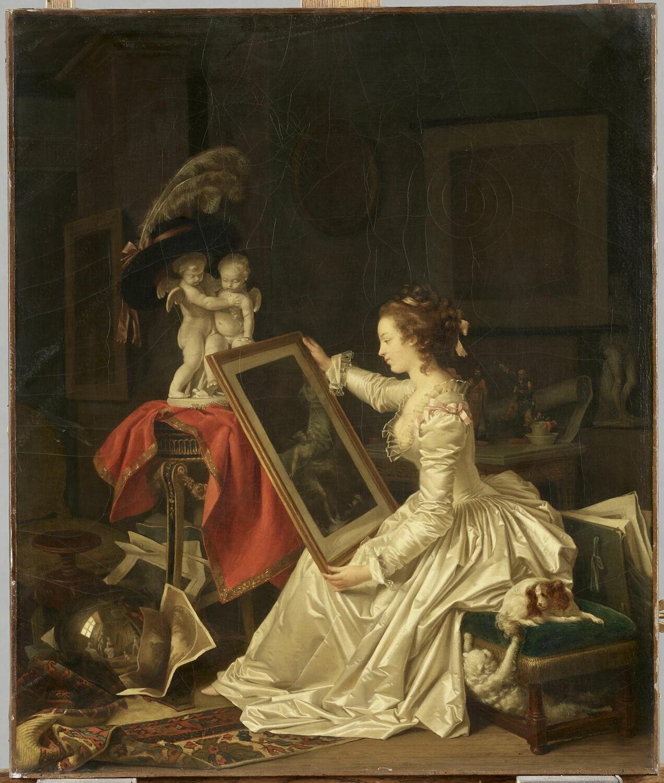 Marguerite Gérard's The interesting pupil colleccion louvre
