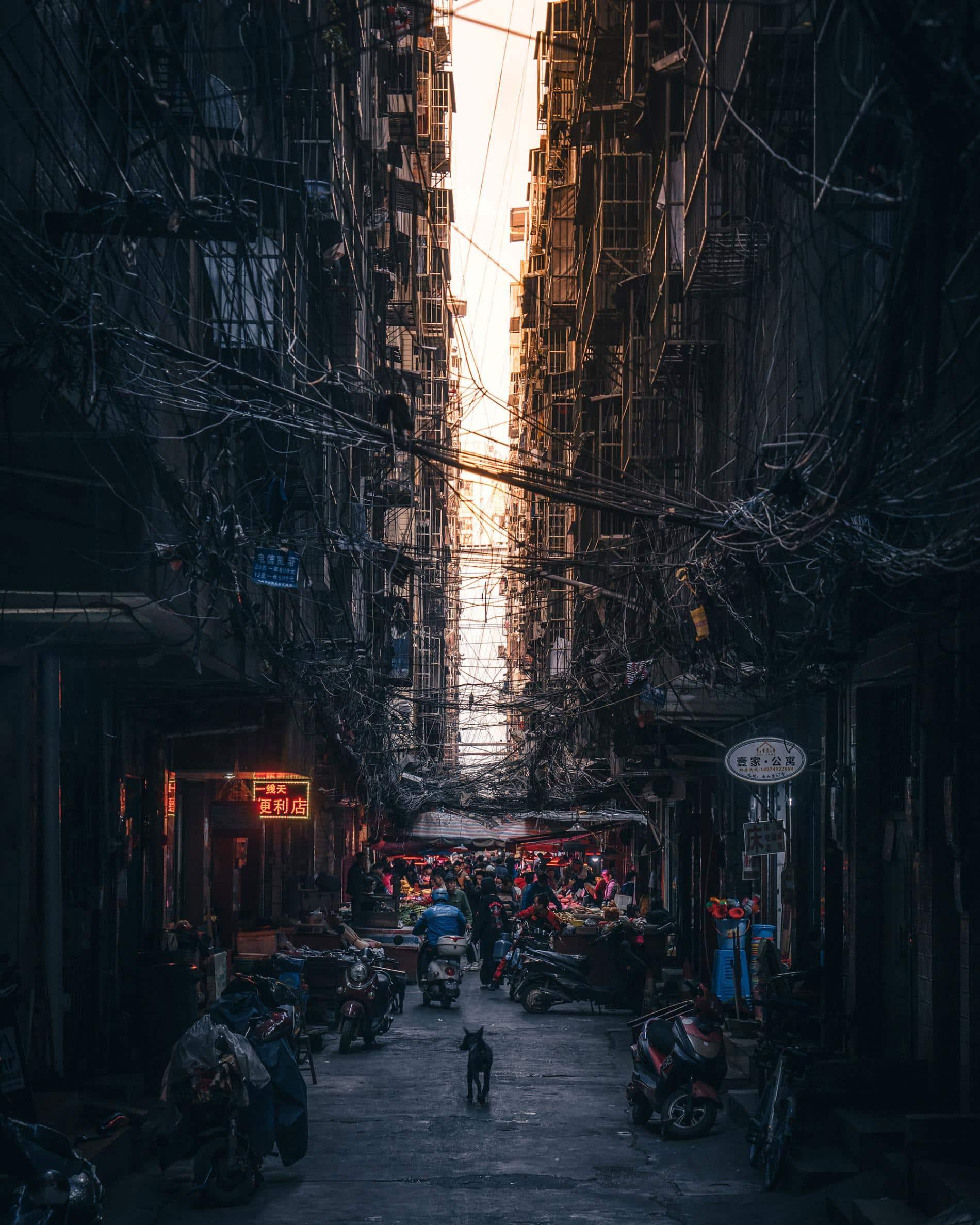 RK FOTOGRAFO COTIDIANIDAD ASIA CABLES LUZ