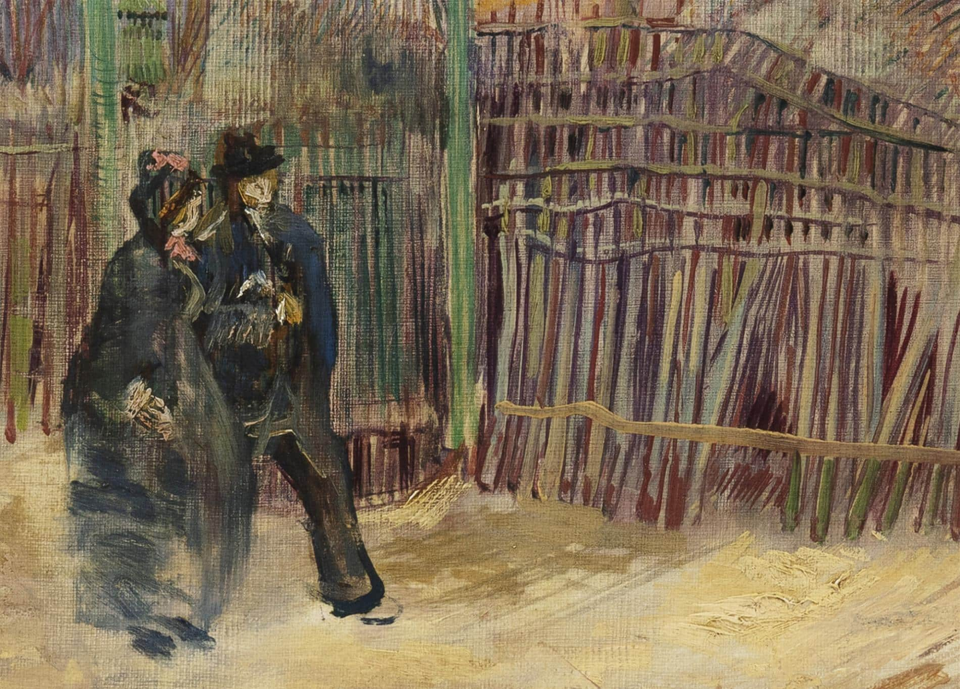 Street scene in Montmartre van goghcdetalle