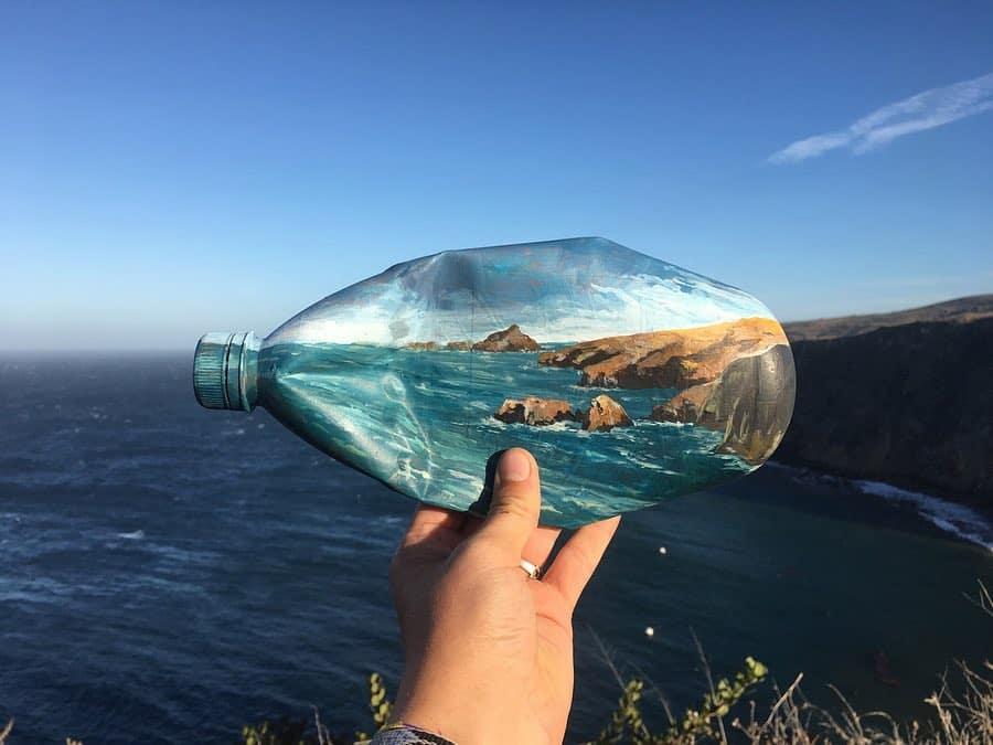 botella paisaje mariah reading art