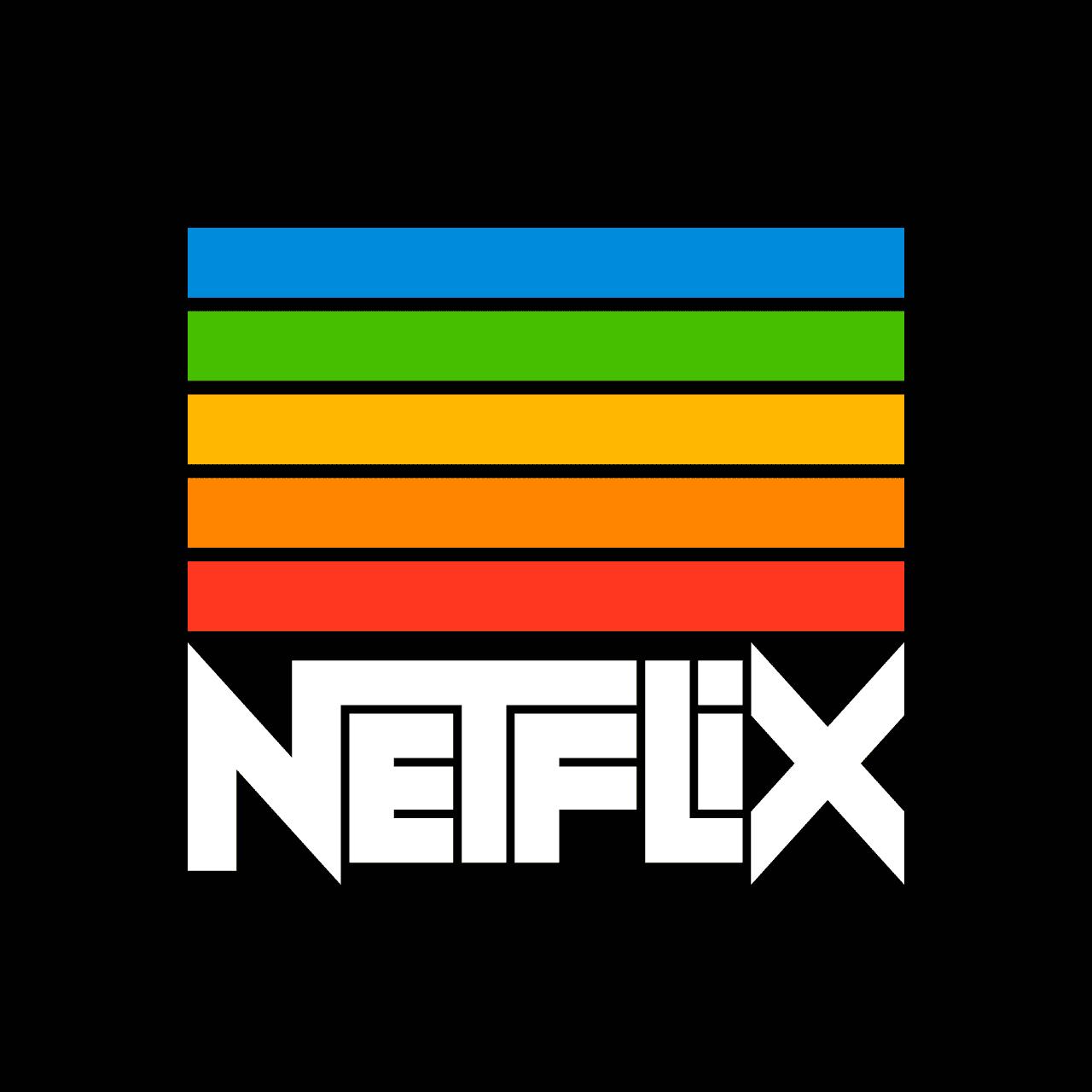 netflix vintage logo rafael serra