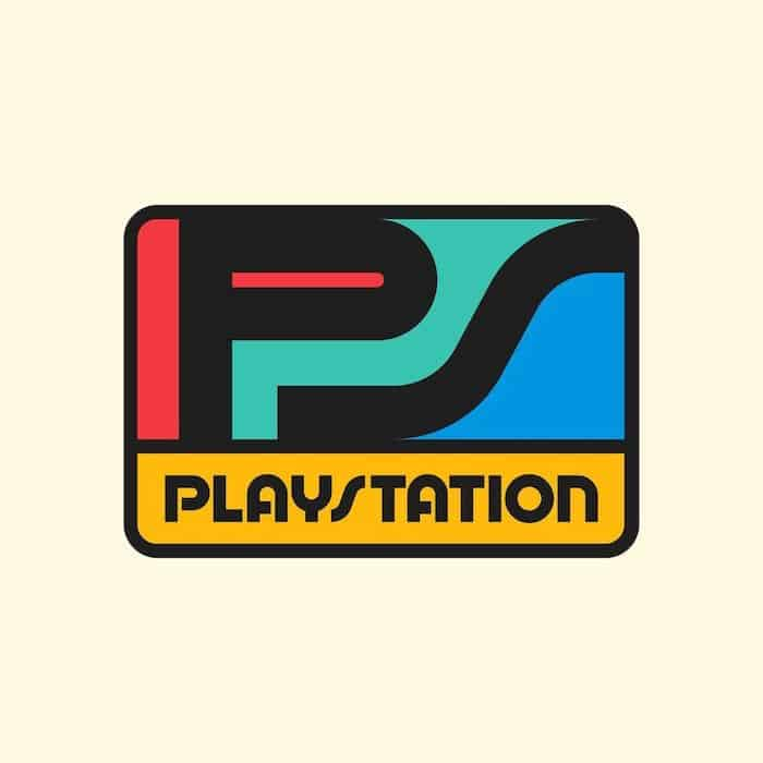 play station vintage logos rafal serra