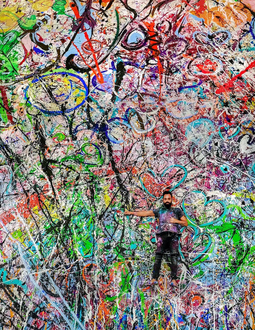 sachi jafari artista cuadroc gigante humanidad