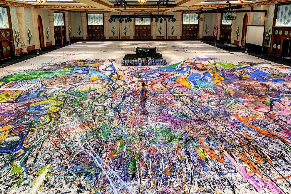 sachi jafari artista cuadroc gigante