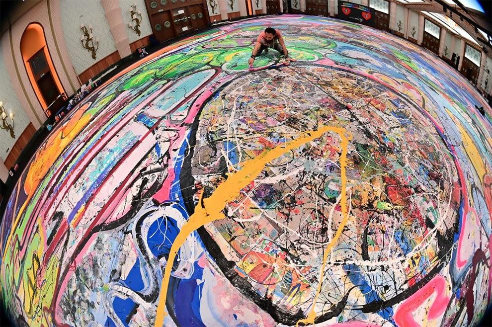 sachi jafari artista la obra mas grande del mundo