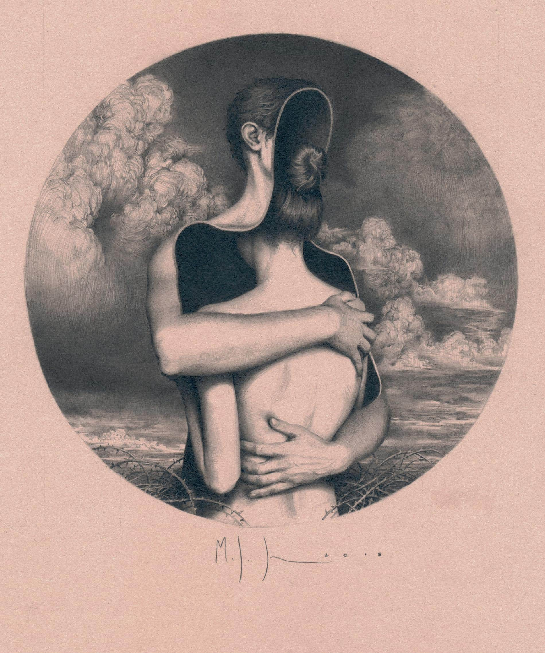 johnston retratos grafito metamorfosis amor