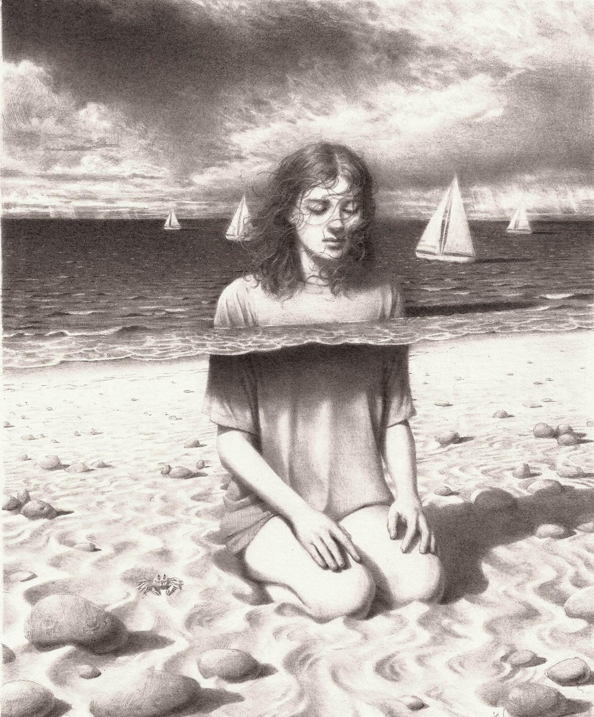 johnston retratos grafito metamorfosis mar