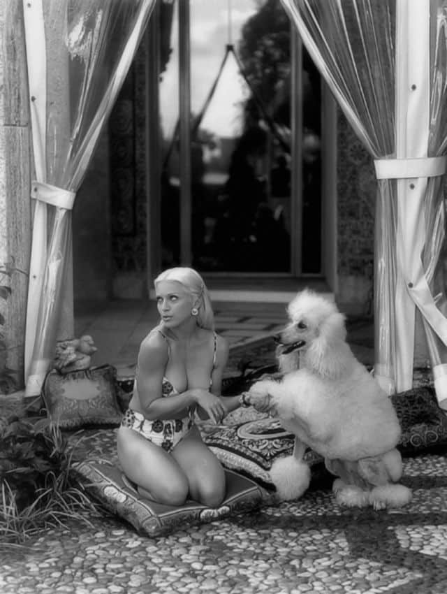 madonna steven meisel versace 1995 dog bikini
