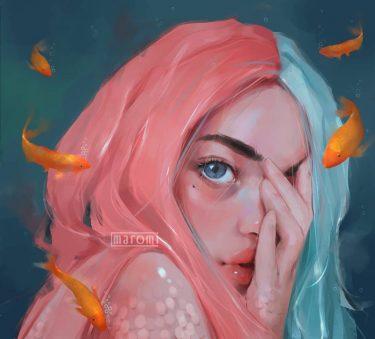 maromi saga ilustracion digital peces