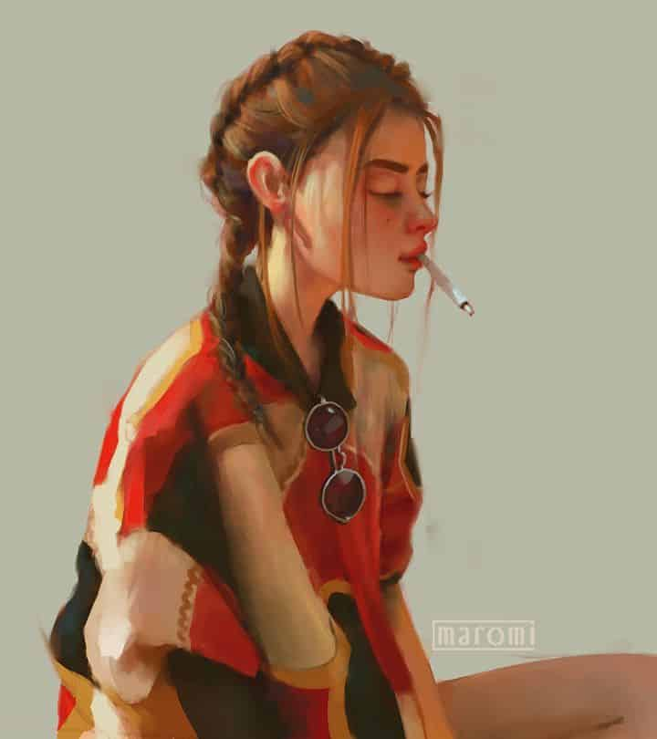 maromi saga ilustracion digital smoke