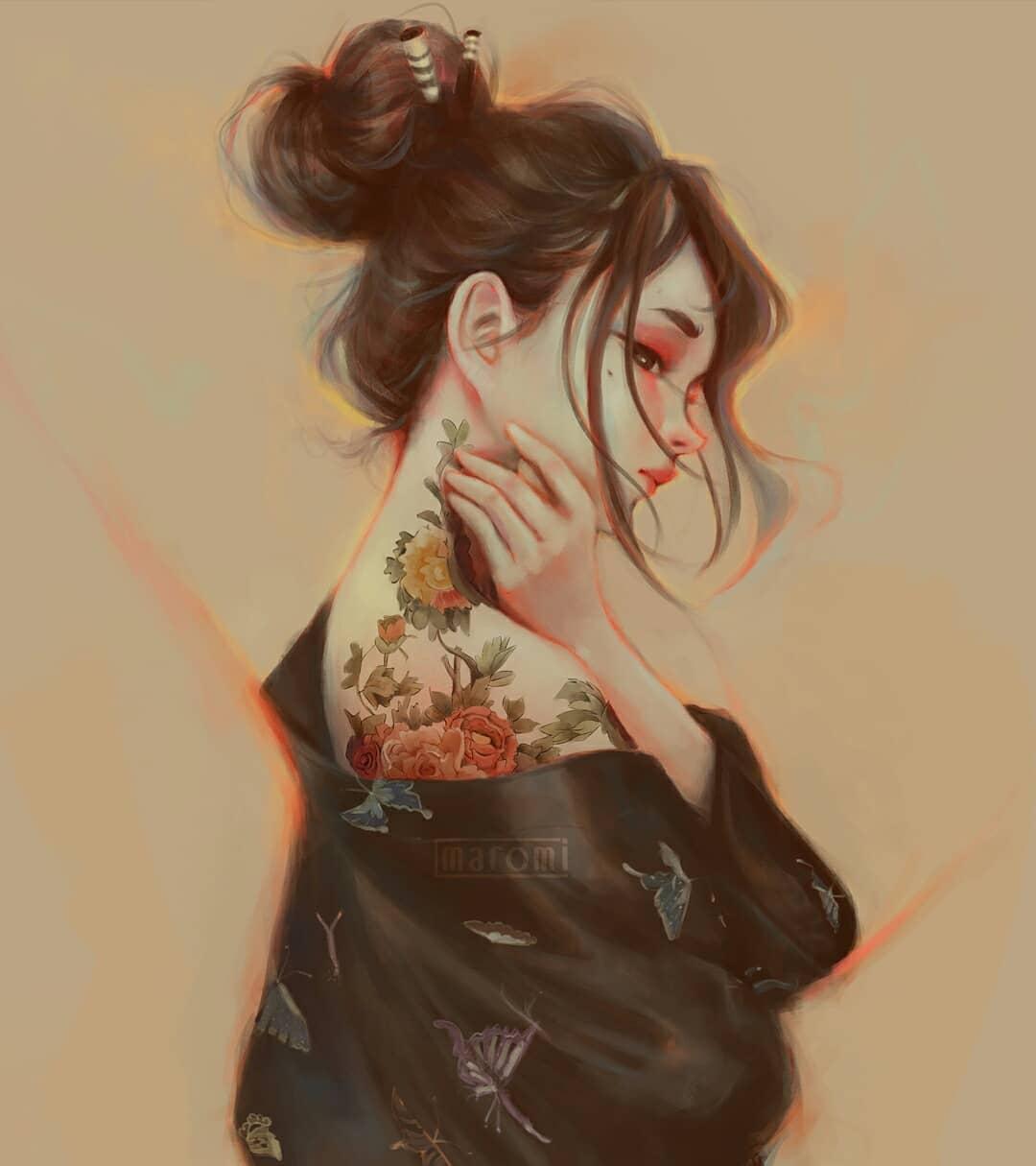 maromi saga ilustracion digital tattoo