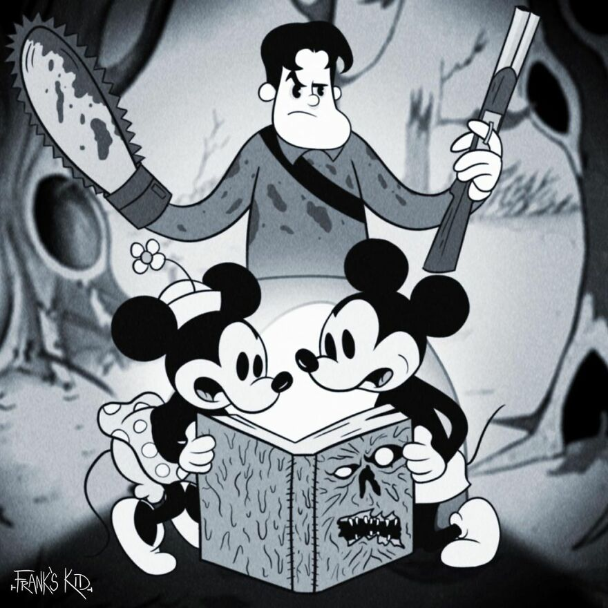 MIKE CHIECHI TERROR Y MICKEY MOUSE MINNIE
