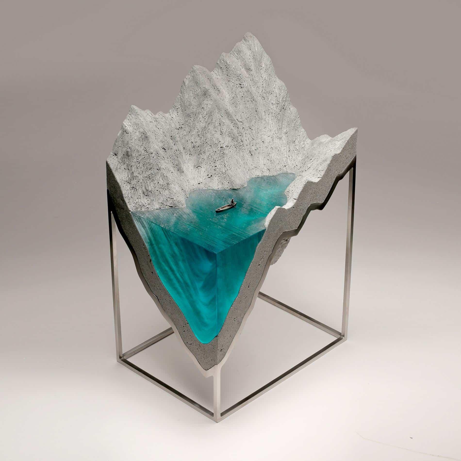 ben youn escultura vidrio barca