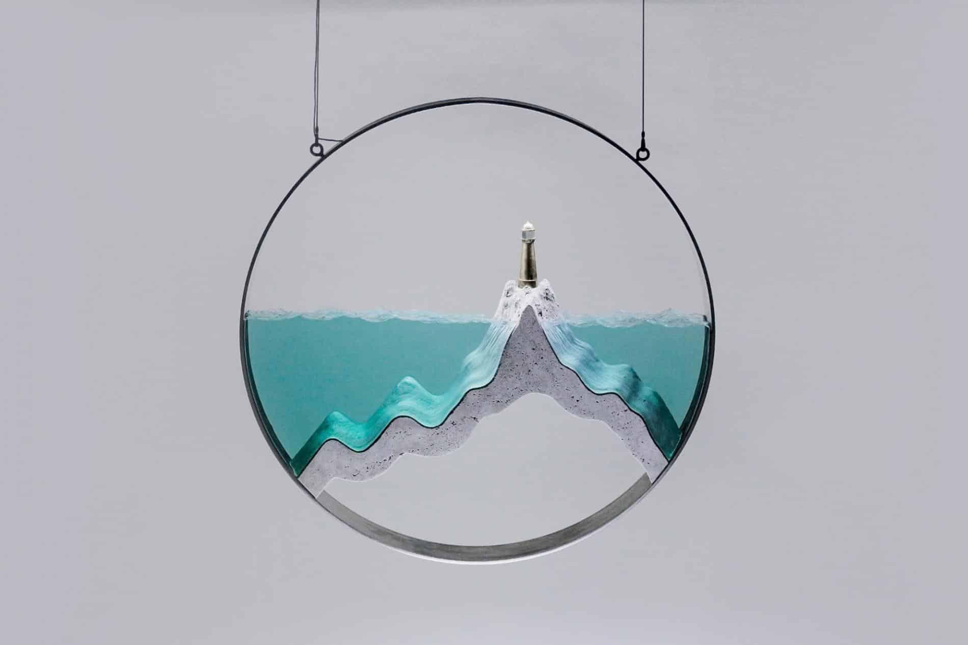 ben youn escultura vidrio mar faro