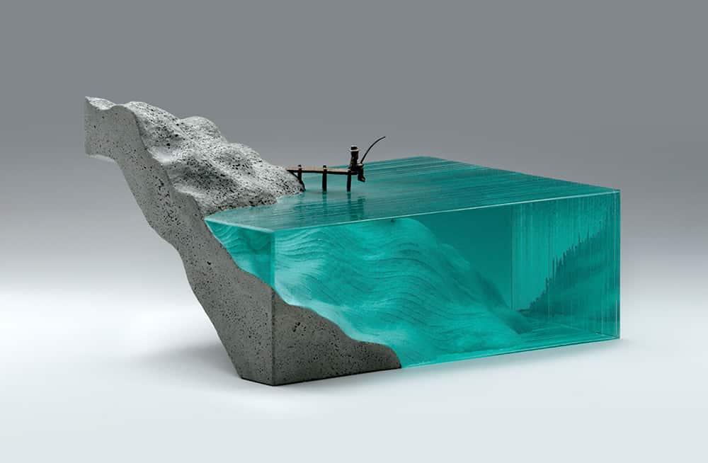 ben youn escultura vidrio mar pesca c