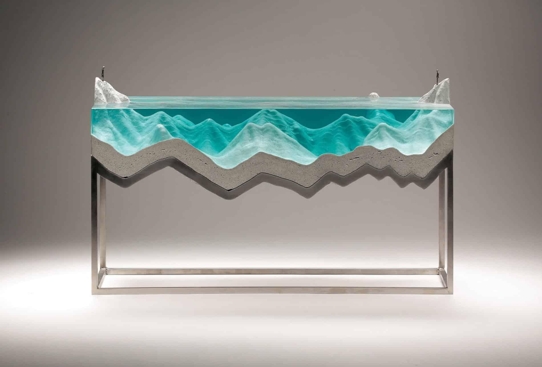 ben youn escultura vidrio mar pesca