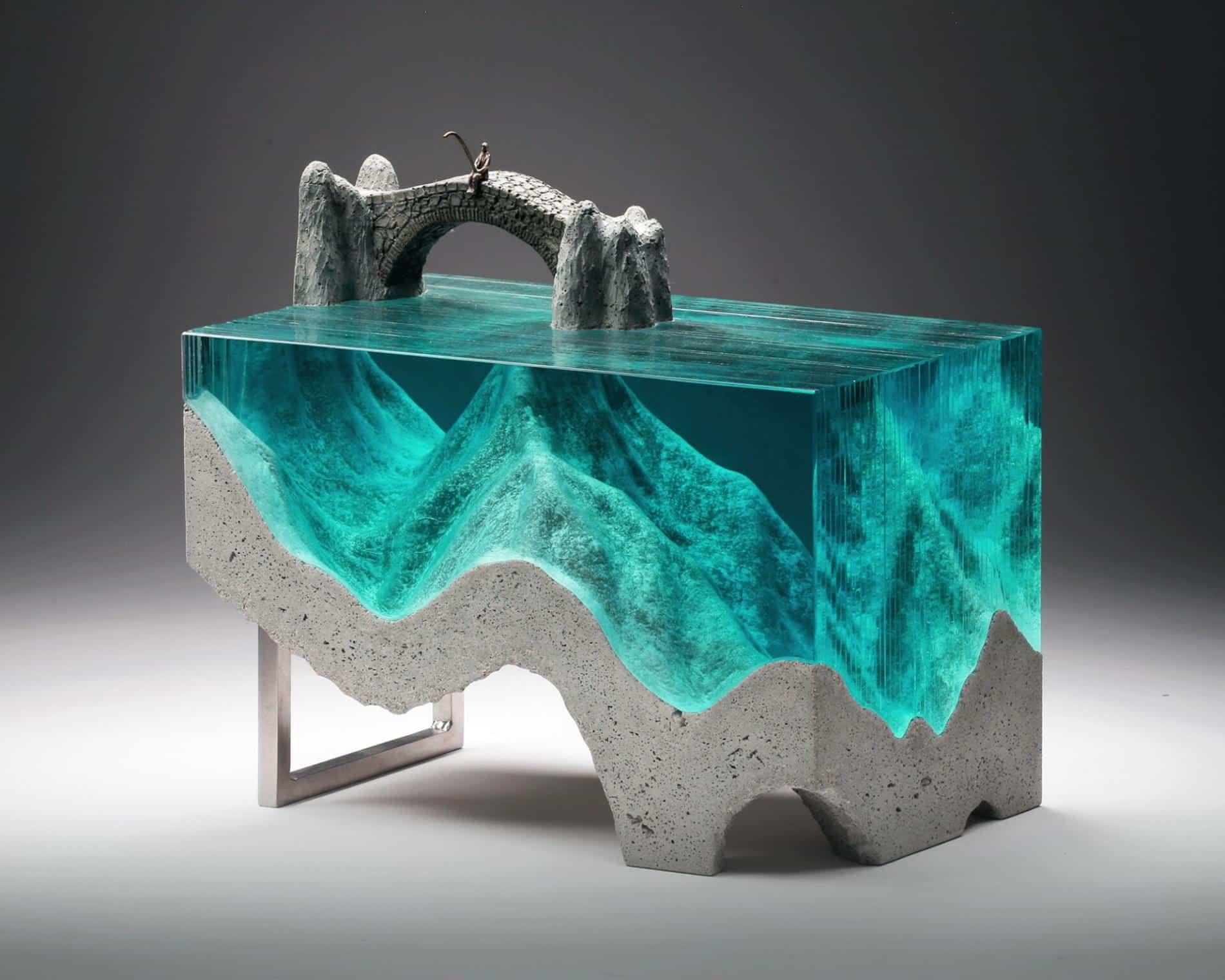 ben youn escultura vidrio mar