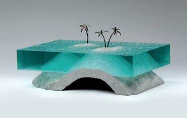 ben youn escultura vidrio palms