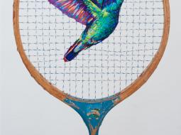 Danielle Clough bordado colibri