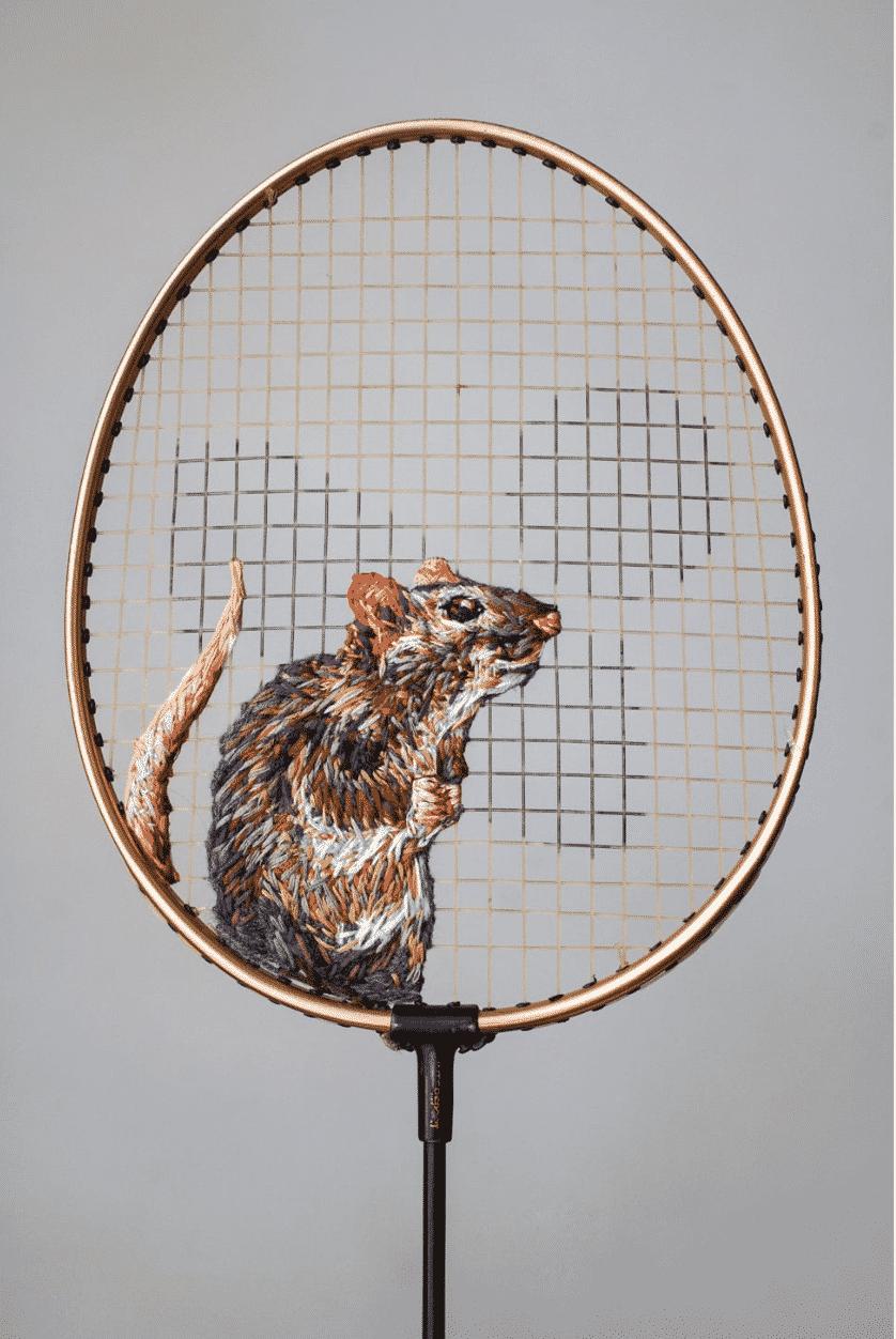 Danielle Clough bordado rata