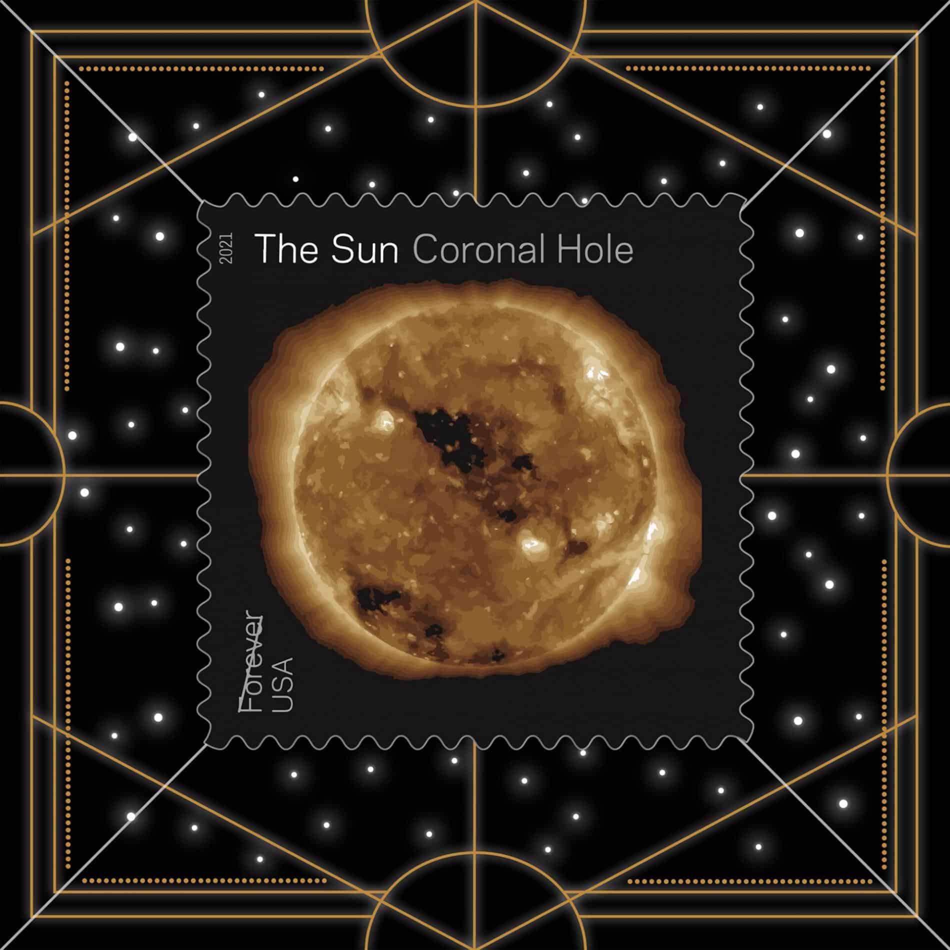 ESTAMPILLA SOLAR NASA UPSP CORONAL HOLE