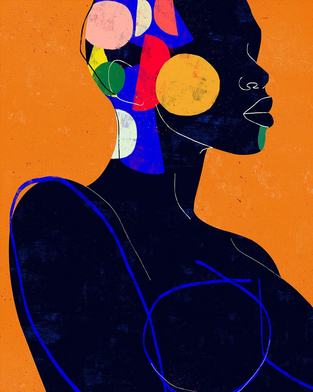 luciano cian retratos minimalistas color