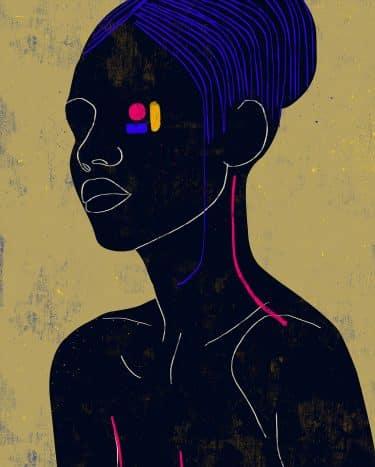 luciano cian retratos minimalistas ojo