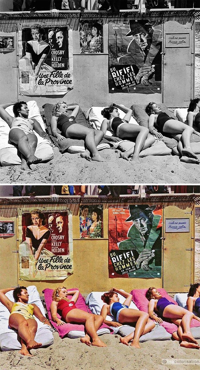 Sebastien-de-Oliveira colorized photo beach