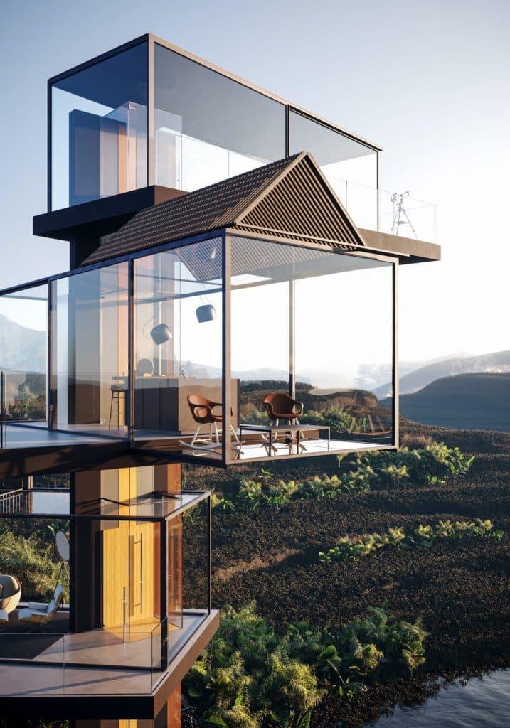 adriano design casa de cristal arrozal cama spacios