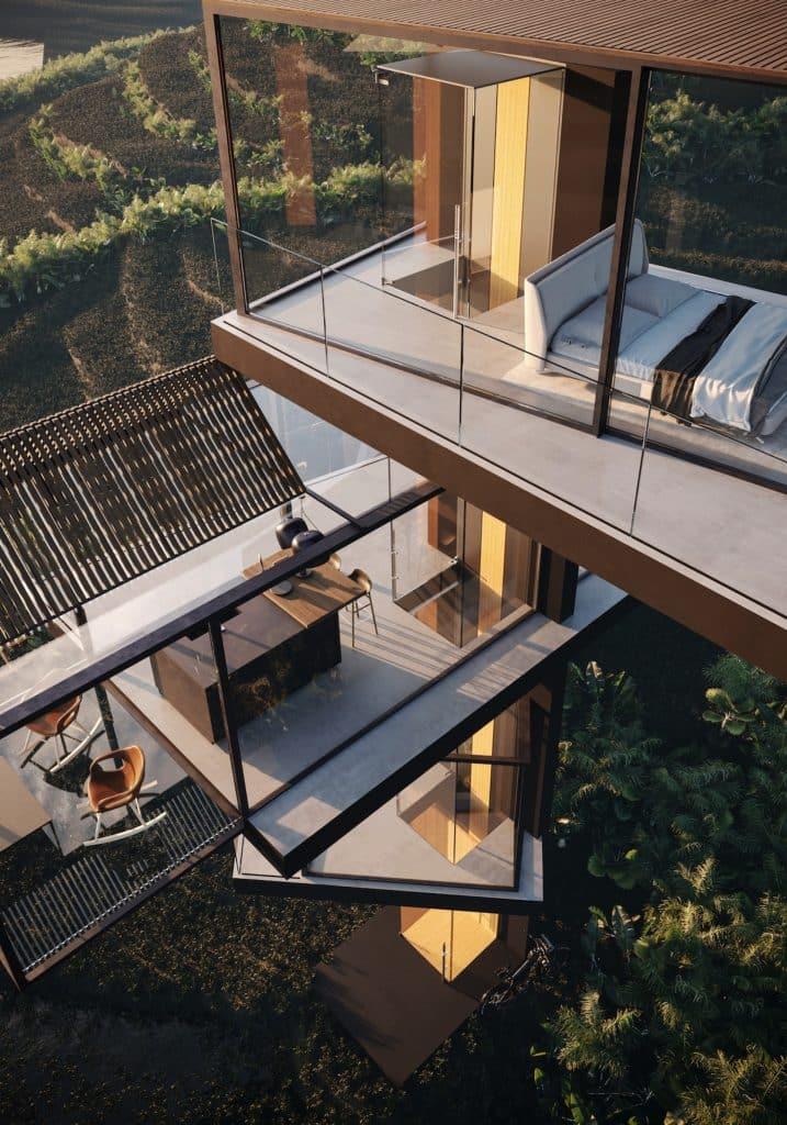 adriano design casa de cristal arrozal cama