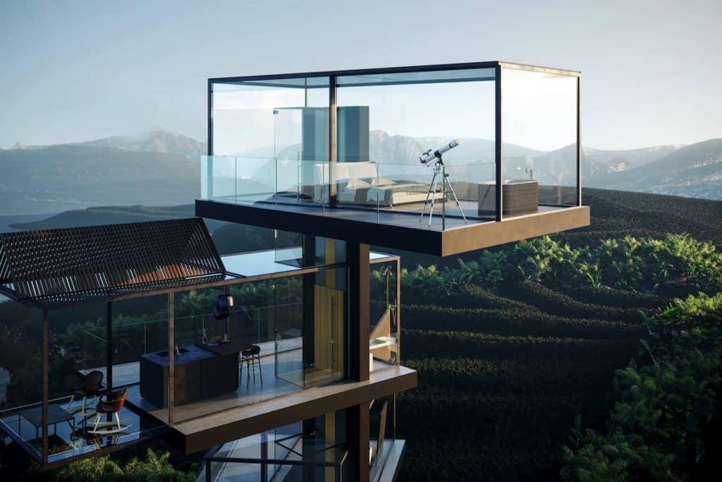 adriano design casa de cristal arrozal proyecto