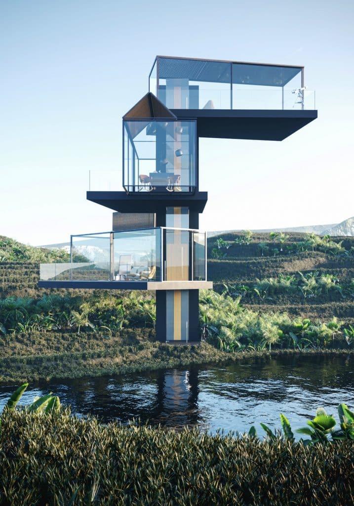 adriano design casa de cristal arrozal