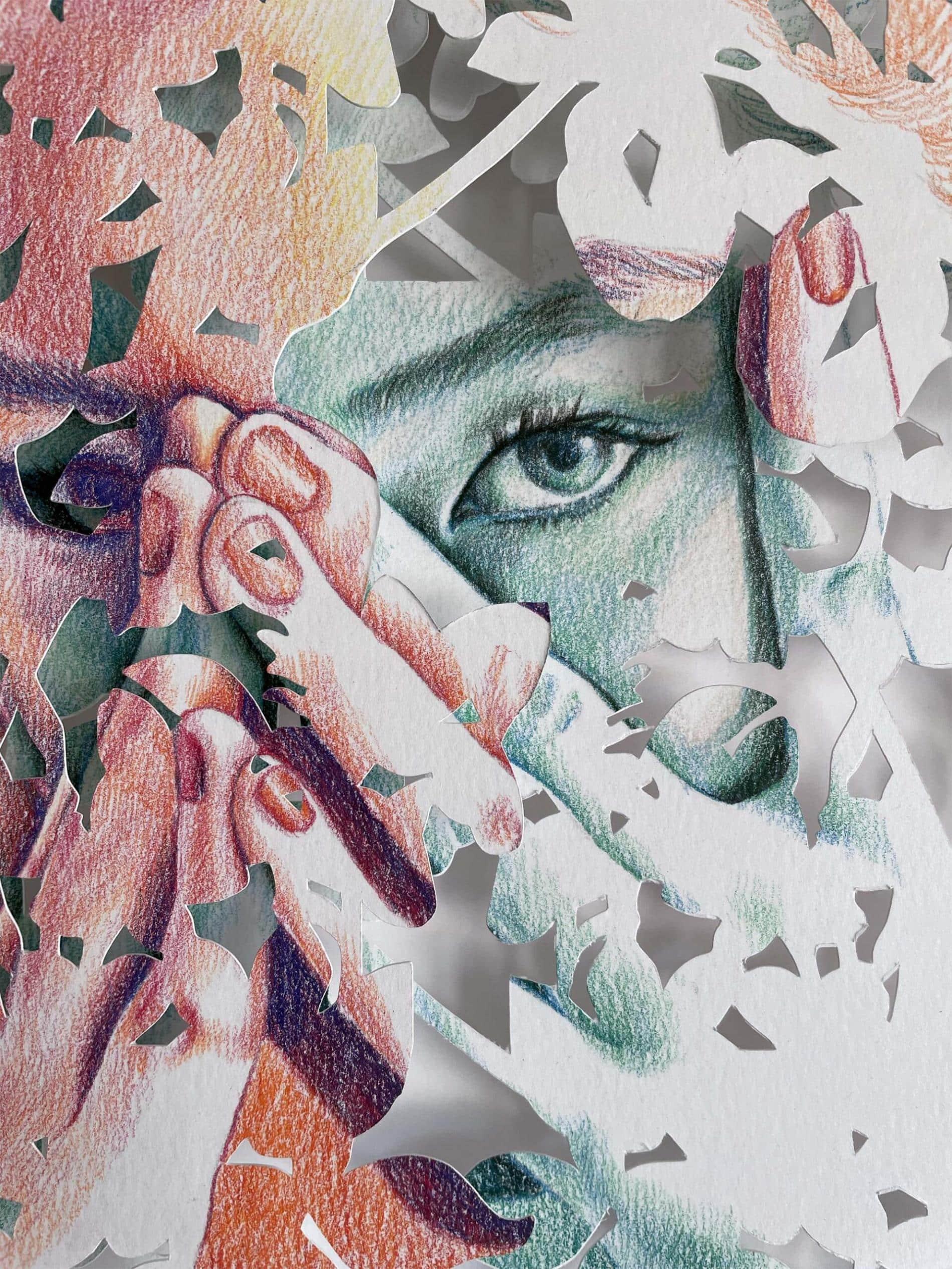 christine kim rostros de papel ojos shame