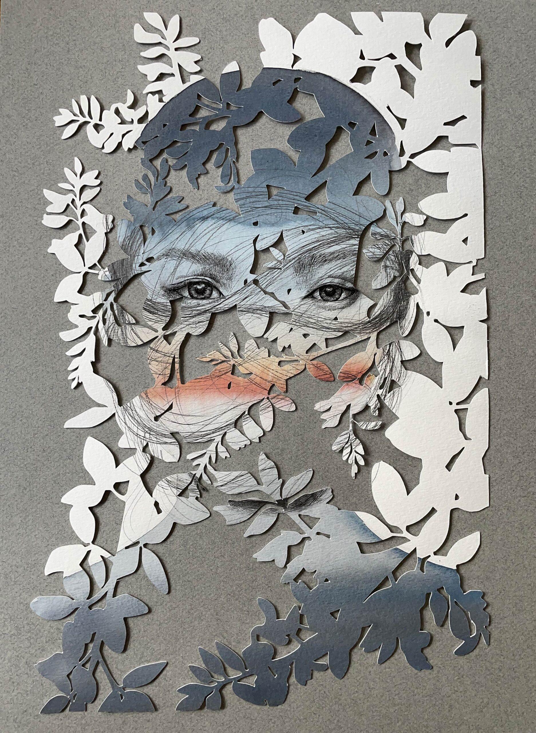 christine kim rostros de papel ojos