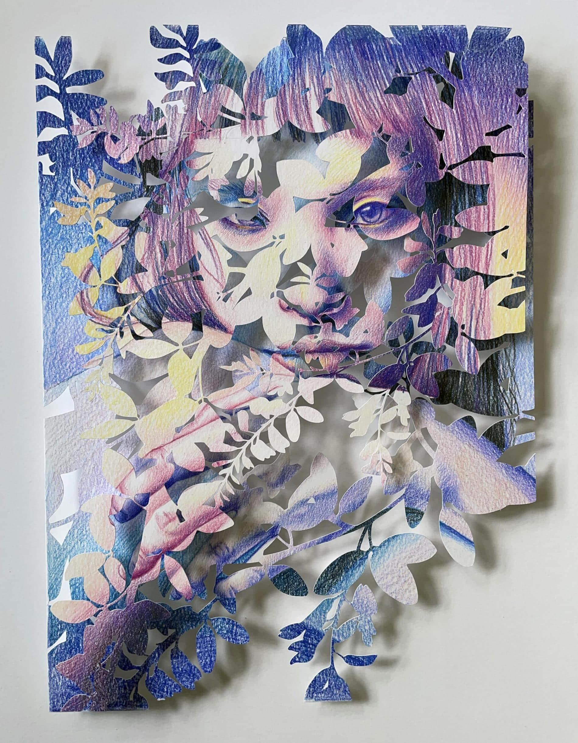christine kim rostros de papel solo