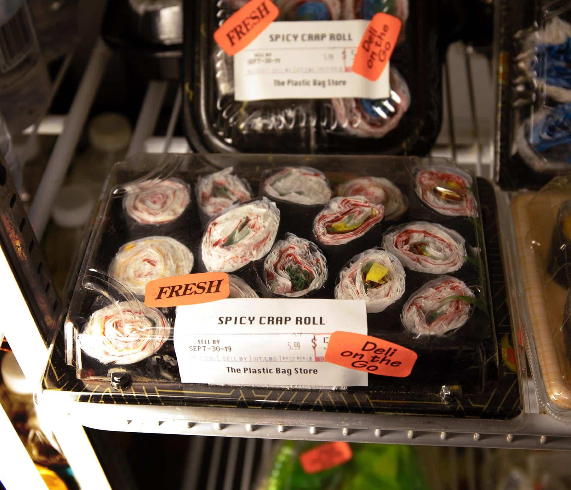 frohardt the plastic bag shop sushi