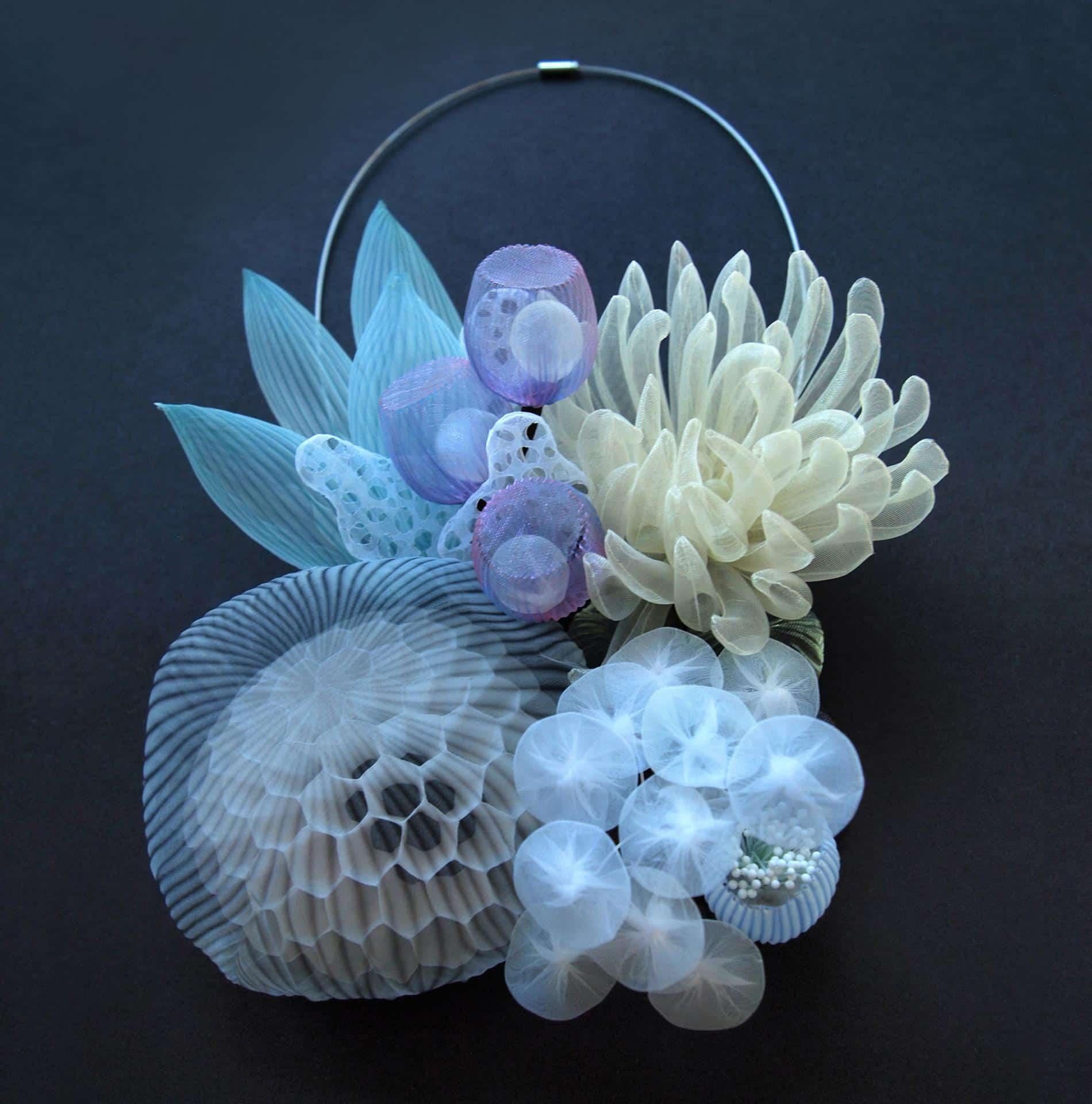 kusumoto textiles traslucidos accesorios