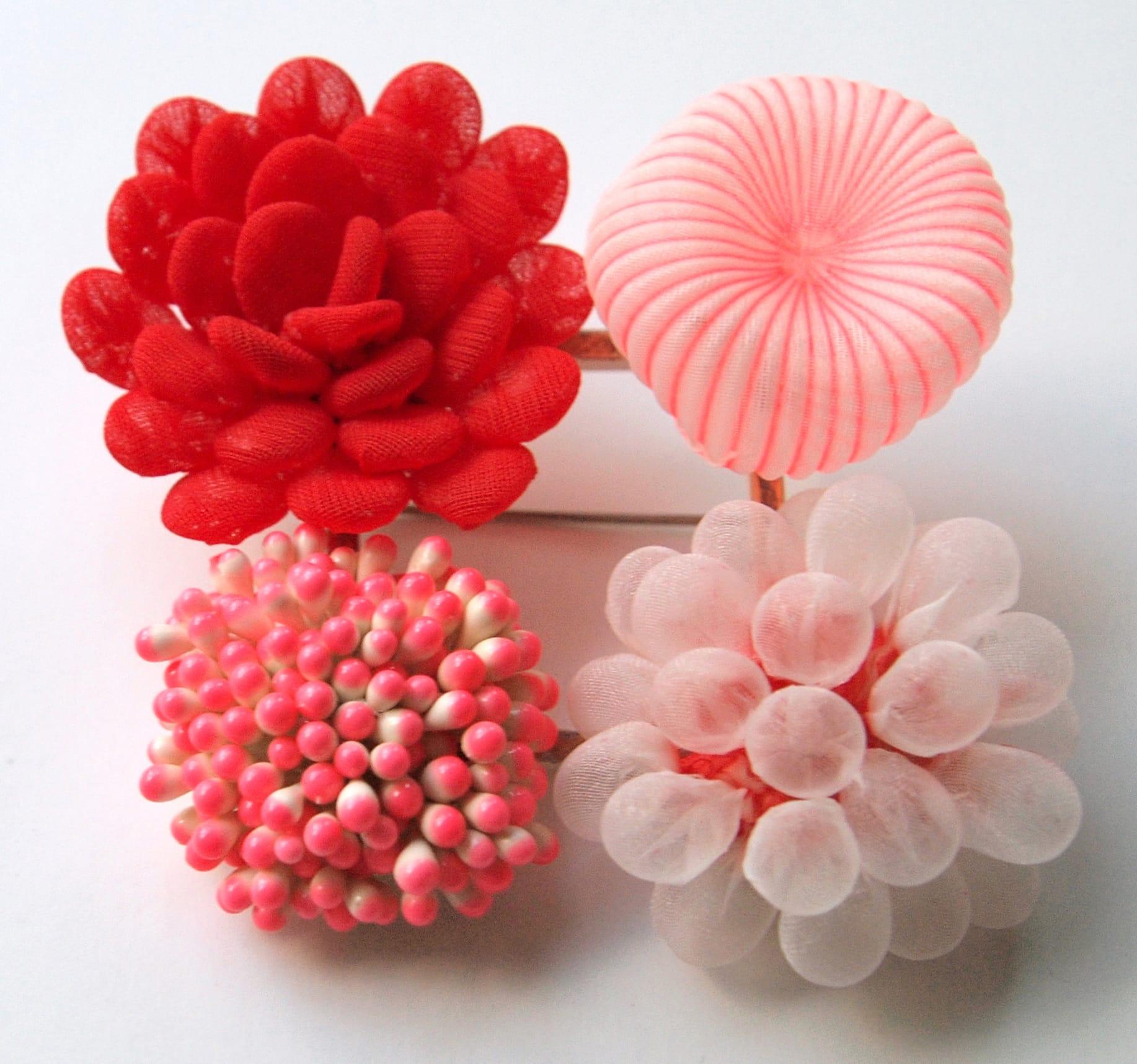 kusumoto textiles traslucidos rojos