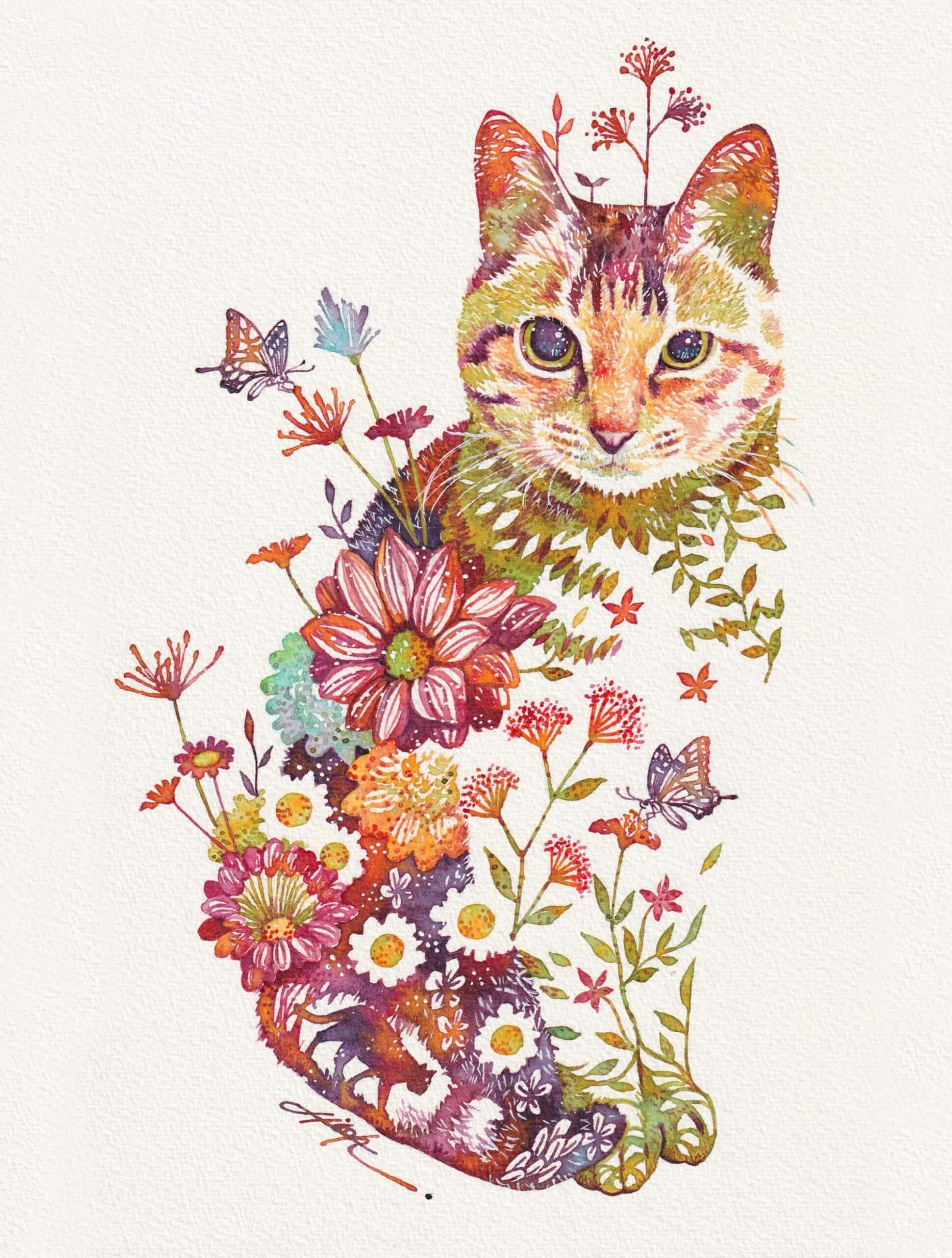 takeda gato floral 2