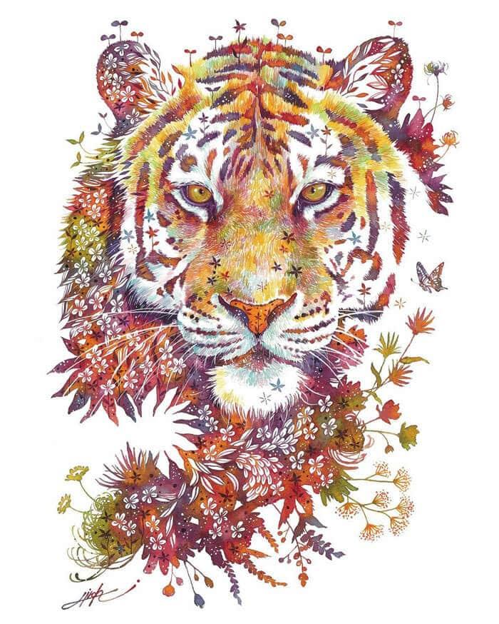 takeda tigre floral