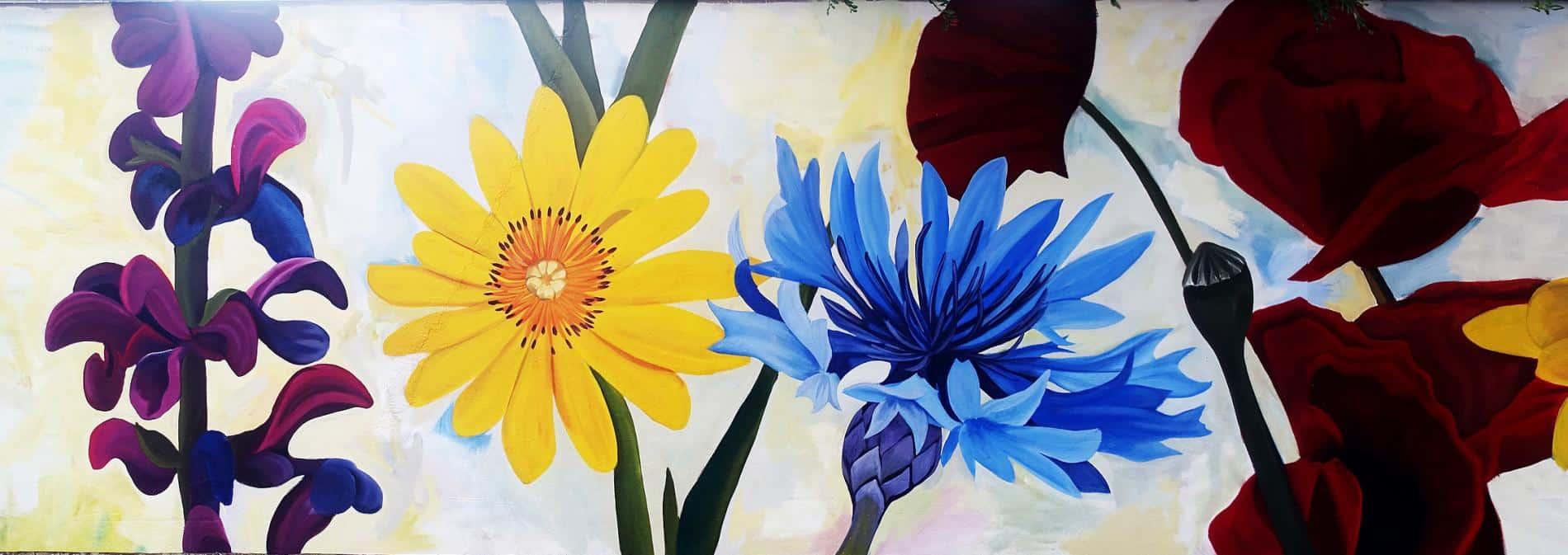 thiago mazza miural flores colores