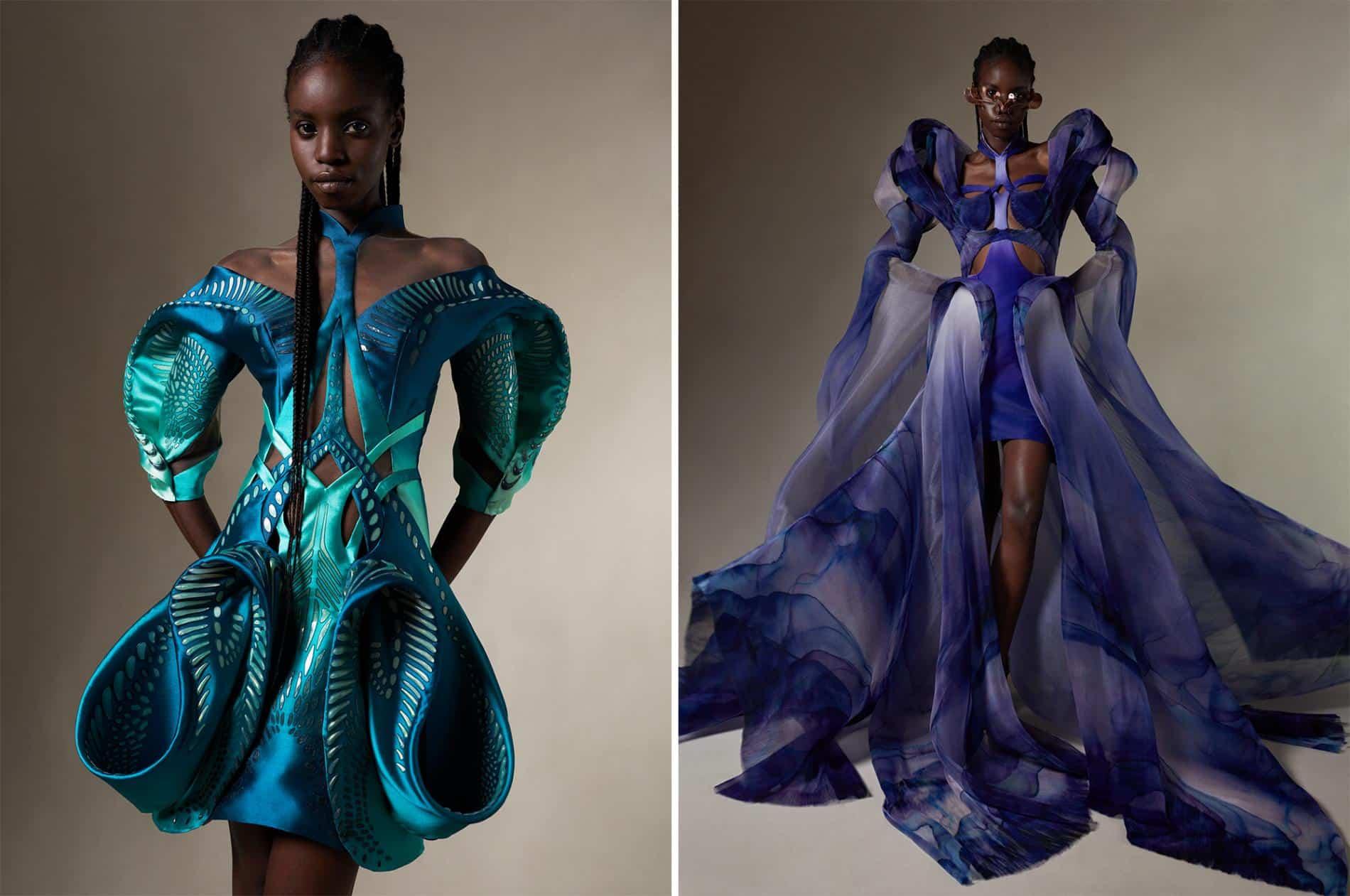 van harpen vestido plastico reciclado vestidos fluidez