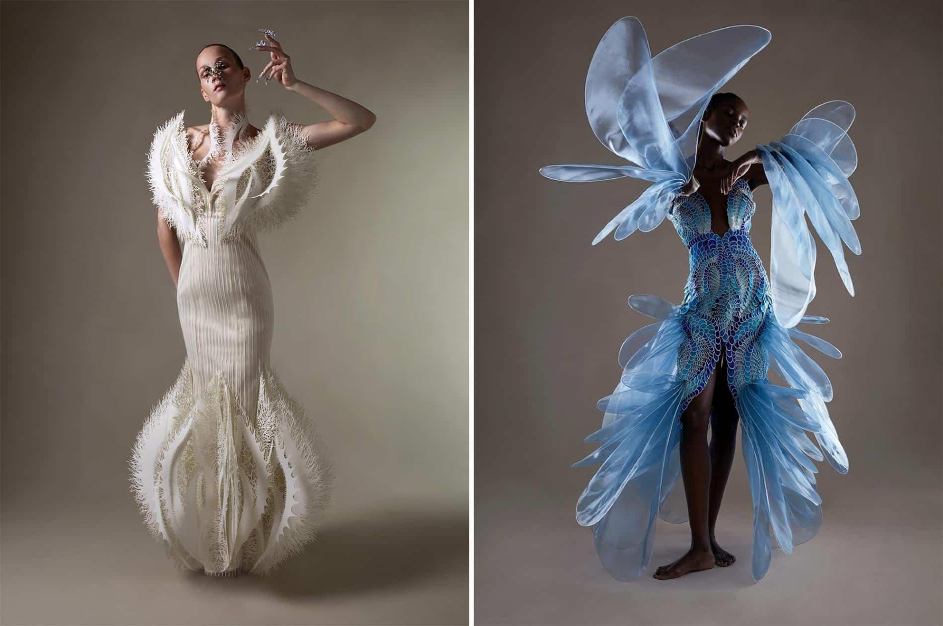 van harpen vestido plastico reciclado vestidos