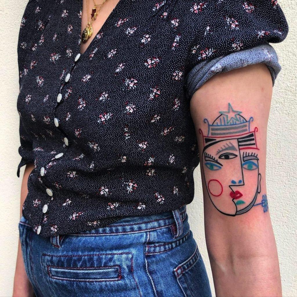 Carlo-Amen tatuaje niños cara picasso