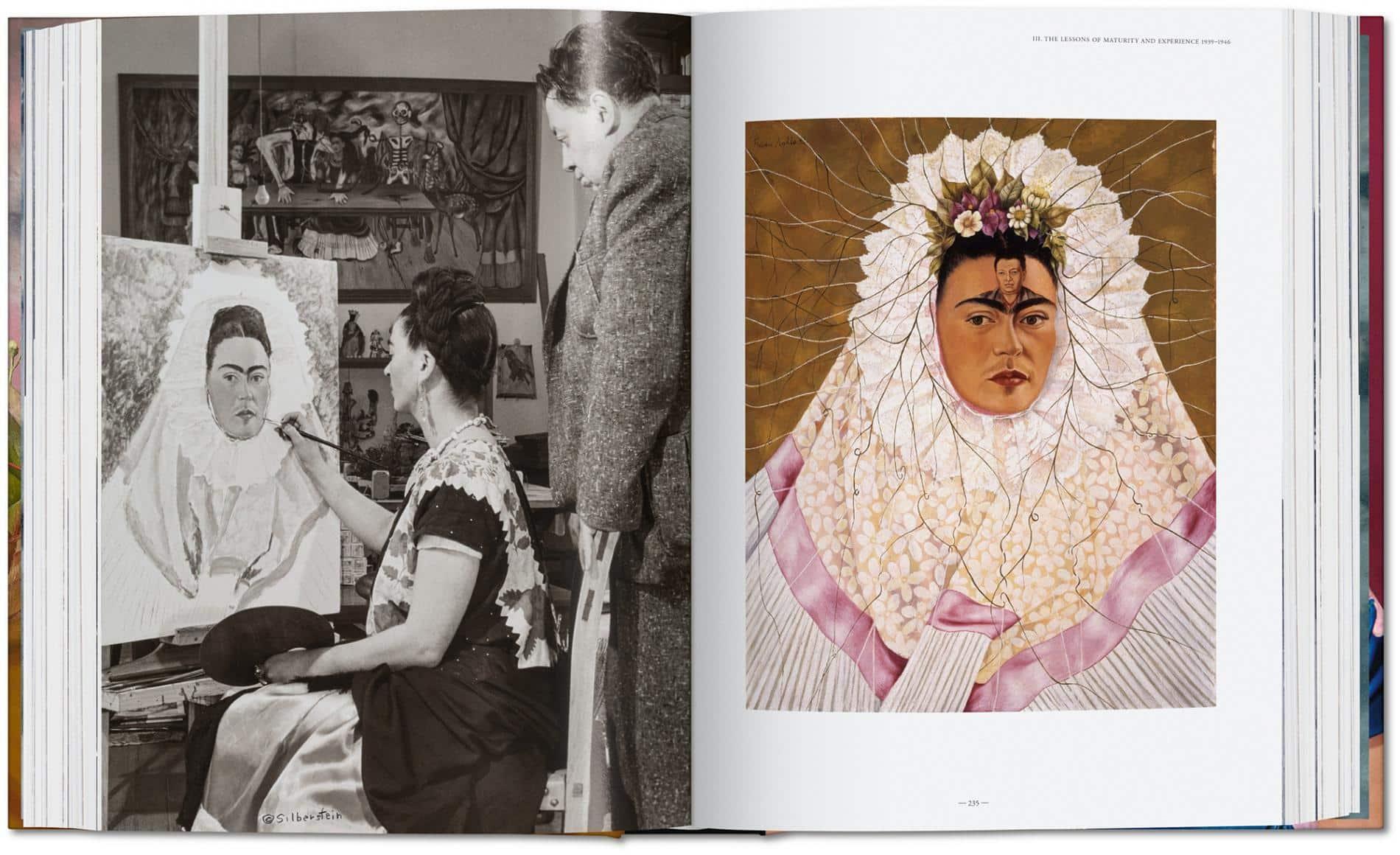 kahlo autoretrato libro paginas